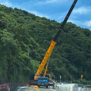 R378号テトラ防災工事活躍しました。